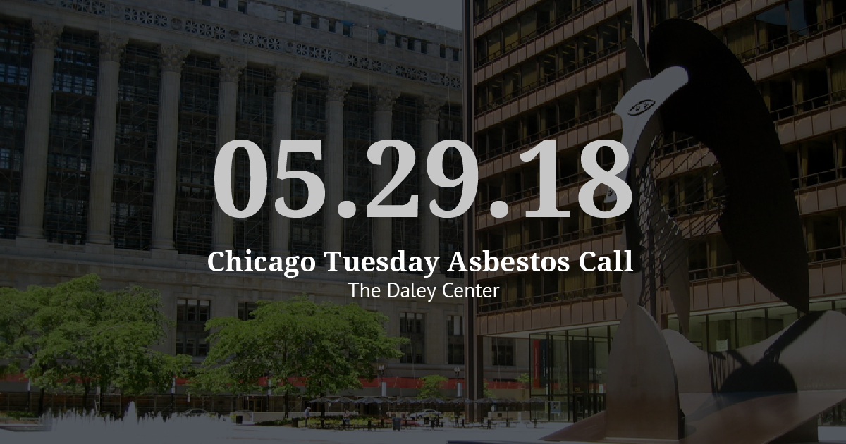 Chicago Tuesday Asbestos Call Recap: Vogelzang Law Pushes Cases Forward