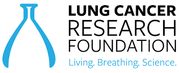 The Lung Cancer Research Foundation Light Blue, Black and White Logo